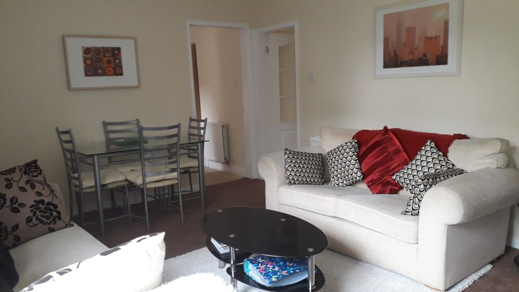 The living room of self catering accommodation in Scotland: Campbell Cottage, Dollar