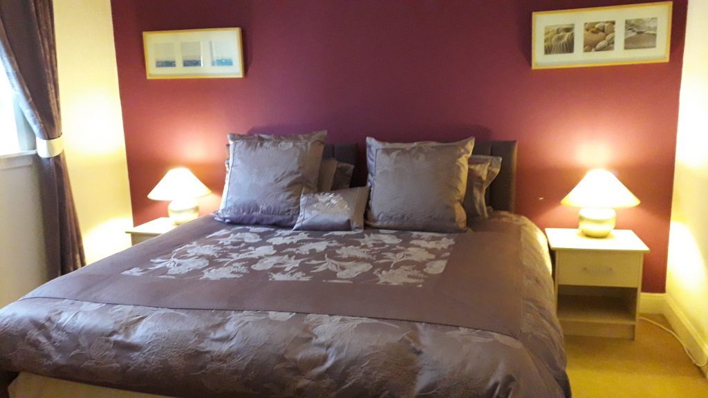 Main bedroom of self catering accommodation in Scotland: Campbell Cottage